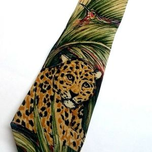 "WWF World Wildlife Fund ""Jaguar"" Cat Necktie"